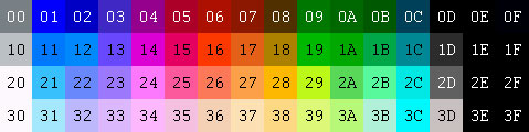 11-hexadecimal-Palette